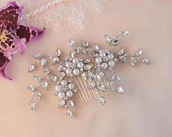 Wedding Hair Comb, Rhinestone Hair Comb, Bridal Hair Piece, Wedding Headpiece, Rhinestone Headpiece, Crystal Headpiece, Crystal Hair Comb