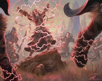 Kolaghan Stormsinger Art Print Of Magic Illustration By Scott Murphy