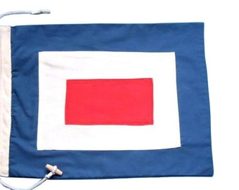 Letter W Cotton Nautical Signal Flag