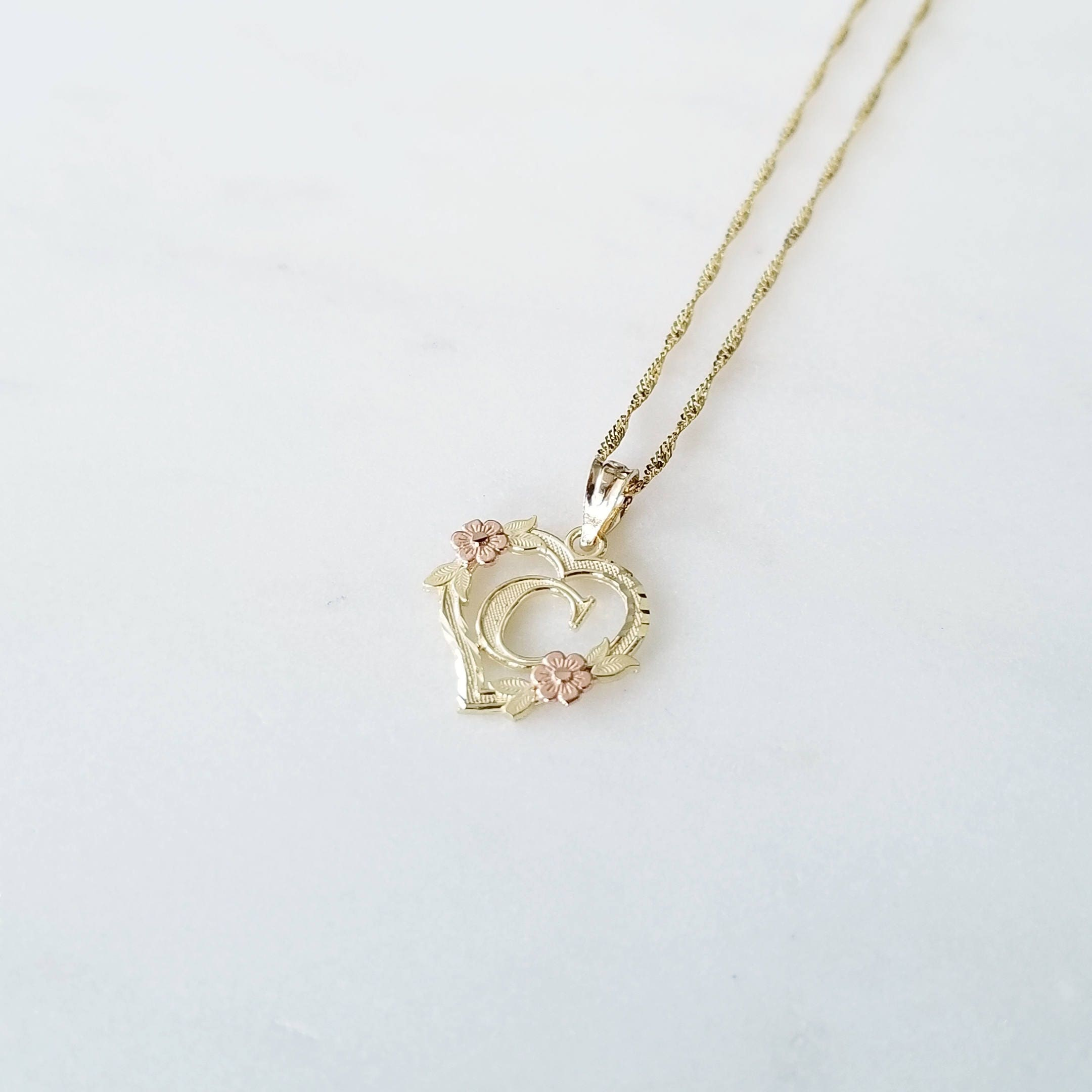 yellow g any initial singapore necklace flower solid heart z rose alphabet set il pendant chain gold a fullxfull letter charm listing