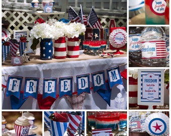 Freedom 4th of July Full Party Package | Printable | Instant Download | Vintage | As Seen In Carousel Magazine & Kara's Party Ideas