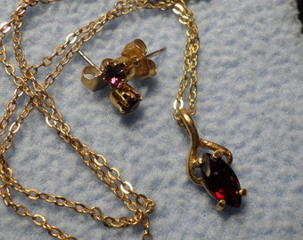 Simply Lovely Amethyst Necklace and Earrings-Purple stones