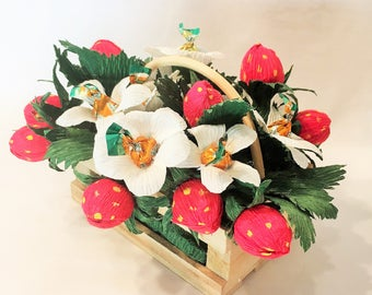 Basket of Strawberries and Caramels