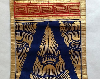Balinese stenciled panel