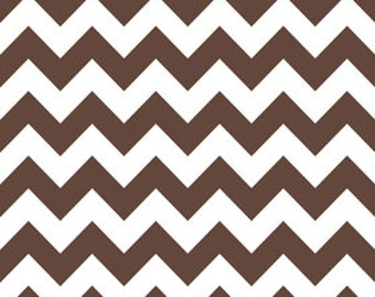 1 yard of Medium Brown Chevron by Riley Blake