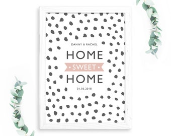 Personalised Home Sweet Home Print