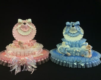 Cold Porcelain Baby Girl/Boy Cake Topper, Centerpiece, Baby Shower, Table Decoration, Baby Girl, Baby Boy