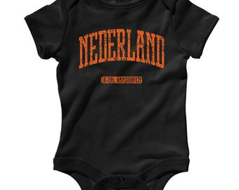 Baby Netherlands Romper - Nederland Infant One Piece - NB 6m 12m 18m 24m - Netherlands Baby - 4 Colors
