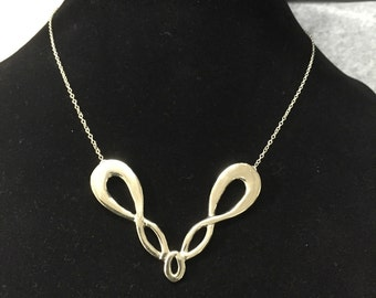 Infinity V Necklace silver, unique pendant, infinity charm