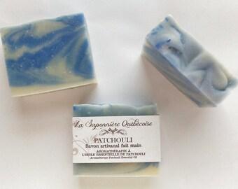 Savon Patchouli, Savon artisanal fait main 100% naturel, Patchouli Soap, Cold process All Natural Handmade Soap
