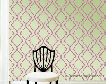 Wall painting stencil design for wall, DIY wall painting ideas, Reusable stencil ideas