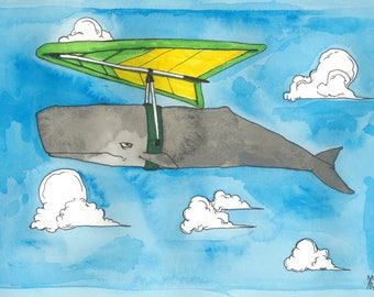 Sperm Whale on Hang Glider