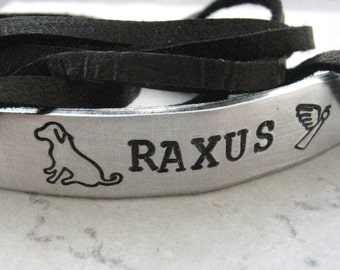 Pet Memorial Wrap Bracelet, Pet Loss Bracelet, Cat Memorial Bracelet, Dog Memorial bracelet, pet remembrance, Loss of pet, grief, grieving