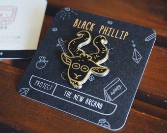 The New Arcana Goat (Black Phillip) Hard Enamel Pin