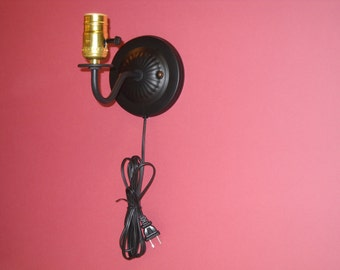 Sconce wall plug in
