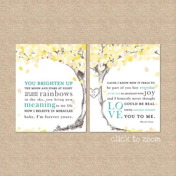 Wedding song lyrics print a personalized keepsake stopboris Gallery