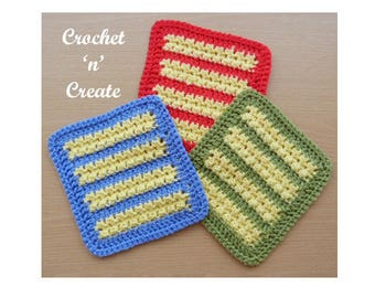 Afghan Motif Crochet Pattern (DOWNLOAD) CNC48