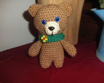 Small Teddy Bear Softy, Stuffed Animal, Amigurumi, Finished Product