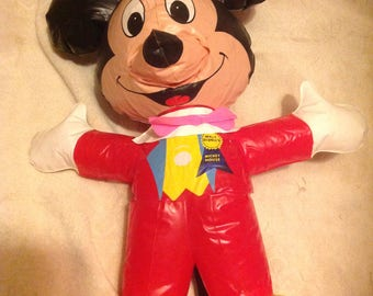 Rare vintage Mickey Mouse inflatable doll