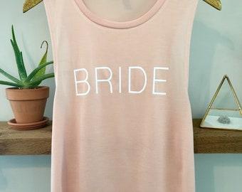 Bride Muscle Tank, Bride Tank, Bride Shirt, Bridal Gift, Bachelorette Tank
