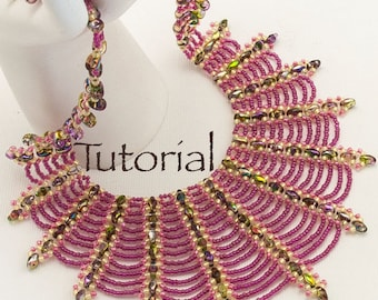 Beaded Necklace Tutorial Spider's Kiss Digital Download
