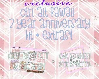 Ctrl Alt Kawaii EXCLUSIVE Anniversary Kit and Extras: Girl Boss Kit and CAK Sticky Notes