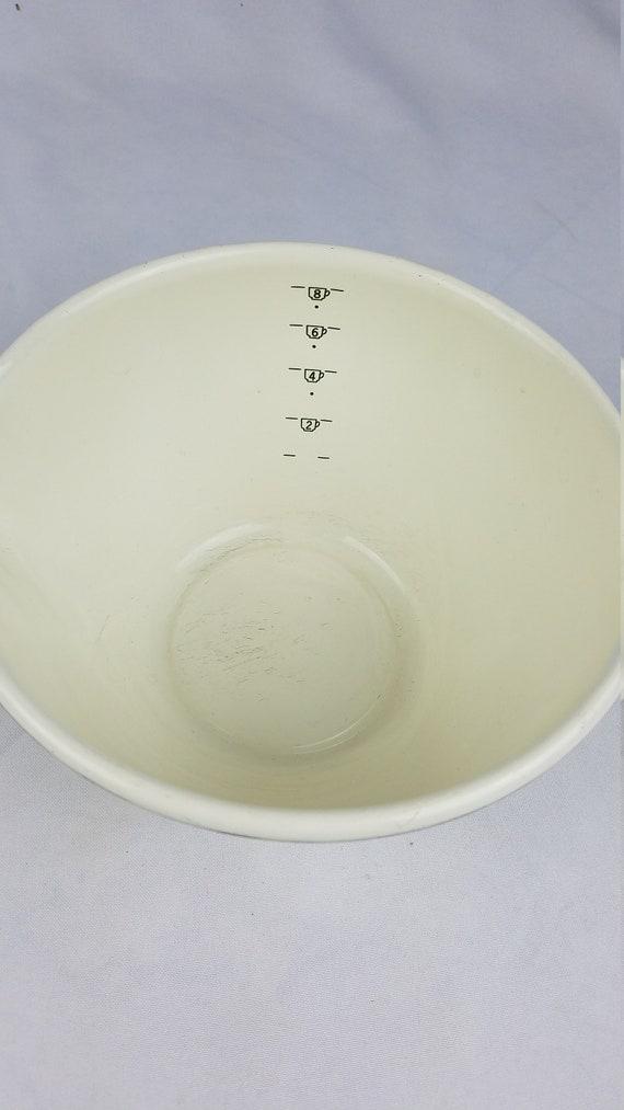 VTG M. Kamenstein Messung 8 Tasse Schüssel Emaille 1983