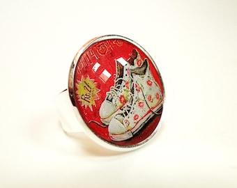 Sneakers Shoes cabochon ring