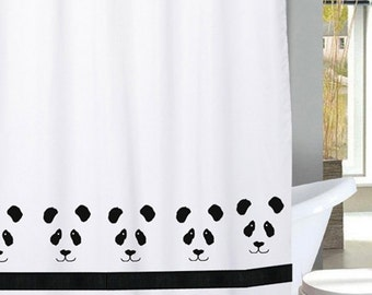 Marvelous Panda Bear Shower Curtain In Your Choice Of Colors   Our Original.
