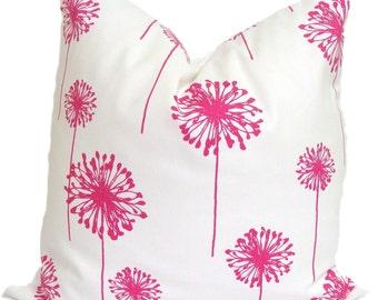 PINK FLORAL PILLOW Sale.18x18 inch.Pillow Cover. Pink Toss Pillow. Pink Cushion. Throw Pillow. Decorative Pillows .Pink Floral.Pink Flowers