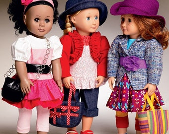 """McCalls 6764 OR McCalls MP328 18"""" Doll Clothes Pattern, Same pattern different number, American Doll Clothes Sewing pattern, Doll Clothes"""