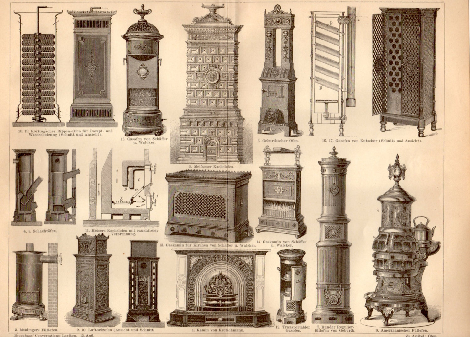 1885 old stoves antique print vintage lithograph kitchen zoom dailygadgetfo Choice Image