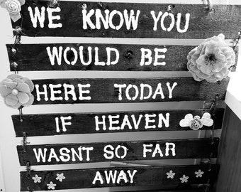 Wedding memorial signs