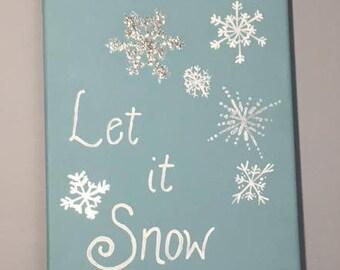 Let It Snow Snowflake Wall Art