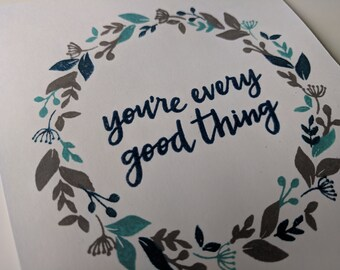 Father's Day - You're Every Good Thing - Teal Wreath