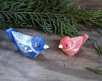 Two Folk Art Birds