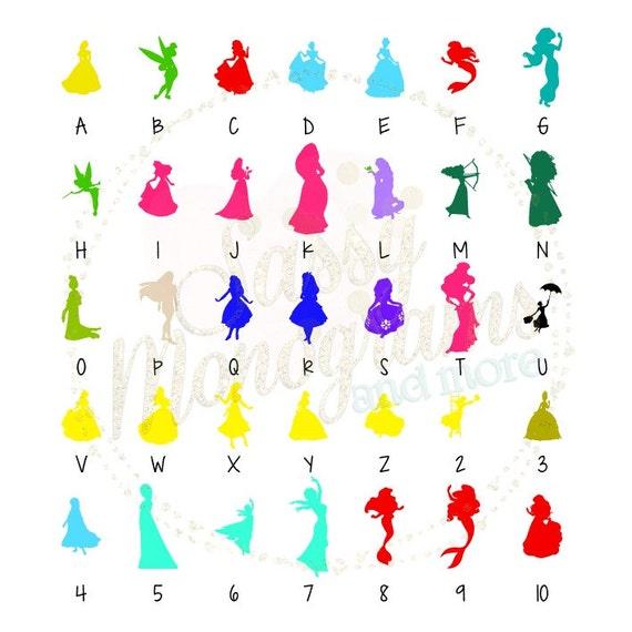Magic Band Disney Princess Silhouette Vinyl Decal Sticker - Magic band vinyl decals
