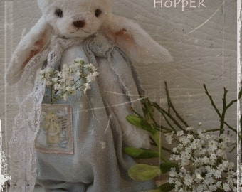 "Sewing Pattern For 7 Inch Rabbit ""Hopper"" PDF Incl. Clothes Pattern"