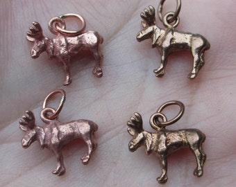 Shibuichi Copper Moose Charms(one pair)
