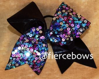 Confetti Tick Tock Cheer Bow