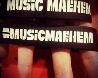 Music Maehem rubber bracelet