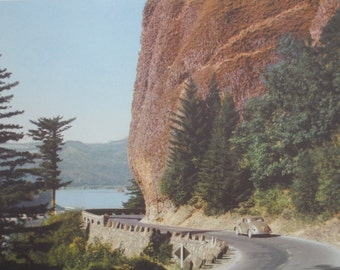 Vintage Columbia River Gorge Picture, Old Columbia River Highway, 1950s, Beautiful