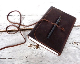 Large leather journal. A5 Journal. Leather Sketchbook. 16cm by 21.5cm