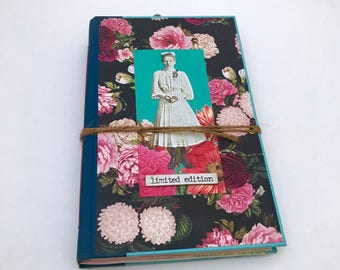 Book Journals, Pretty Junk Journal, Repurposed Diary, Sister Birthday Gift, Travel Notebook, Unique Diaries, Memory Planner, One of a Kind