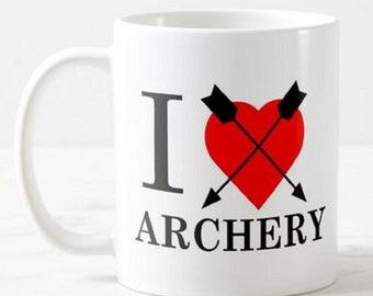 """Archery -  """"I Love Archery"""" - Mug Funny Birthday Gift Christmas Present"""