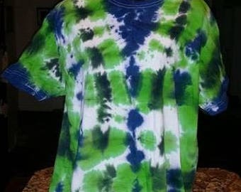 Men's Medium Tye-Dye Cotton Tee
