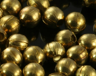 200 pcs 3,2 mm 18 gauge 1 mm Raw Brass Spacer Bead , Findings 15 Too tiny bab1 1811