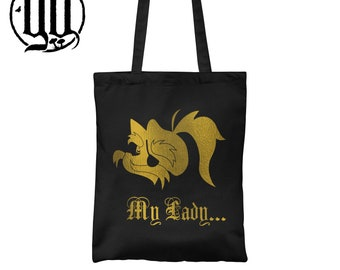 My Lady Tote Bag - Gold on Black