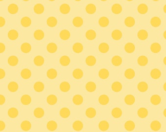 Medium Dots Tone on Tone Yellow - Half Yard Cut - Riley Blake Designs - Cotton fabric - Quilting Fabric - Yellow Fabric
