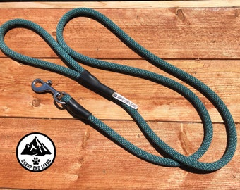 Up-cycled climbing rope dog leash-The Chameleon-Blue Green or Green Blue-6 foot long